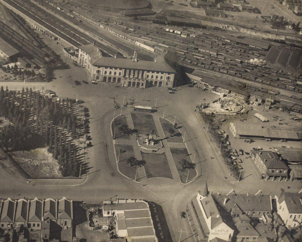 Aerial view of Pretoria railway station