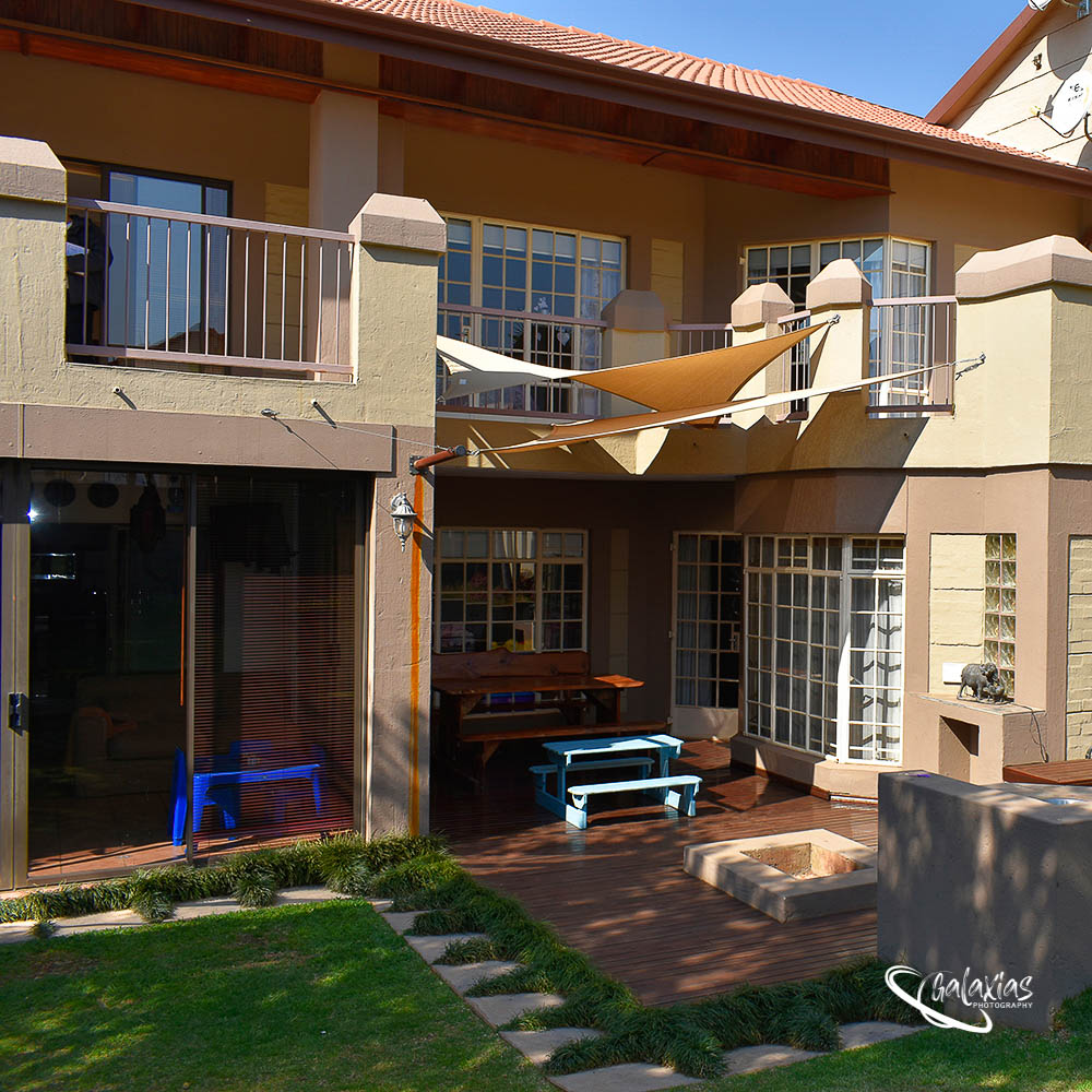 Back garden with boma, photographed by Galaxias Photography, Pretoria East, South Africa