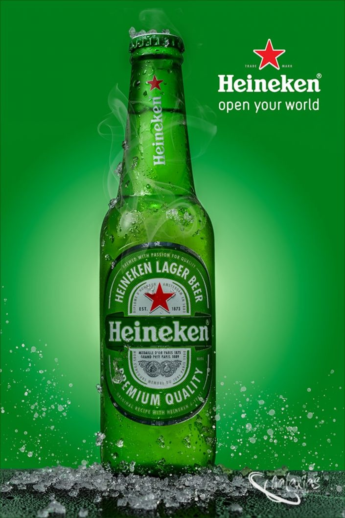 Heineken Larger beer. Open your world