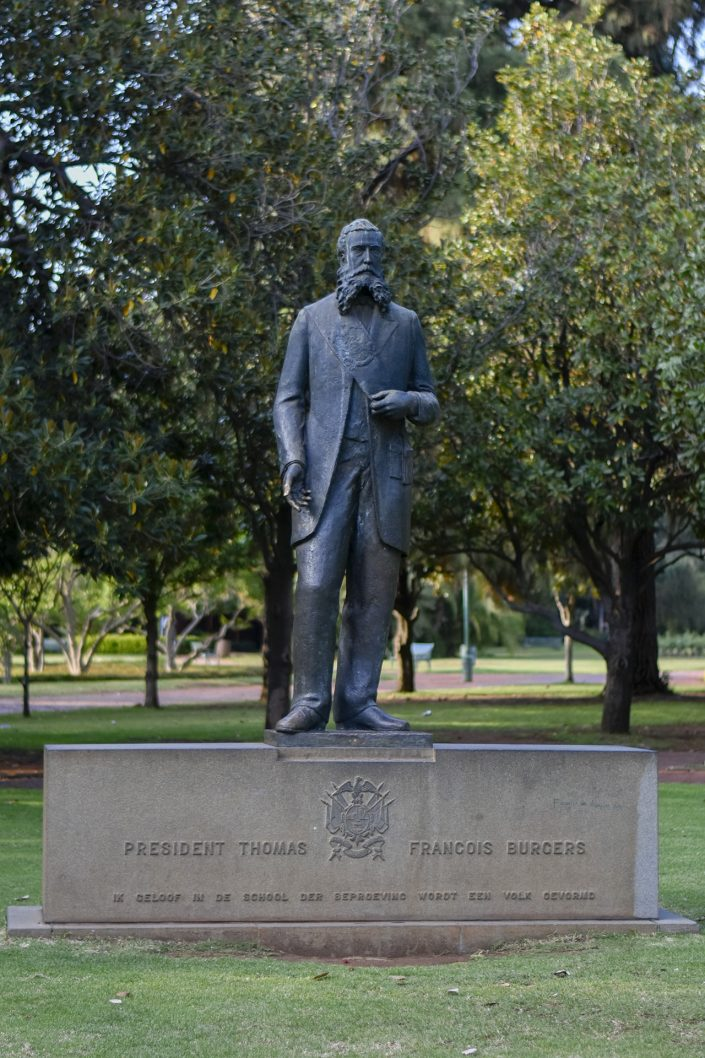 President Thomas Francois Burgers statue in Burgers Park, Pretoria