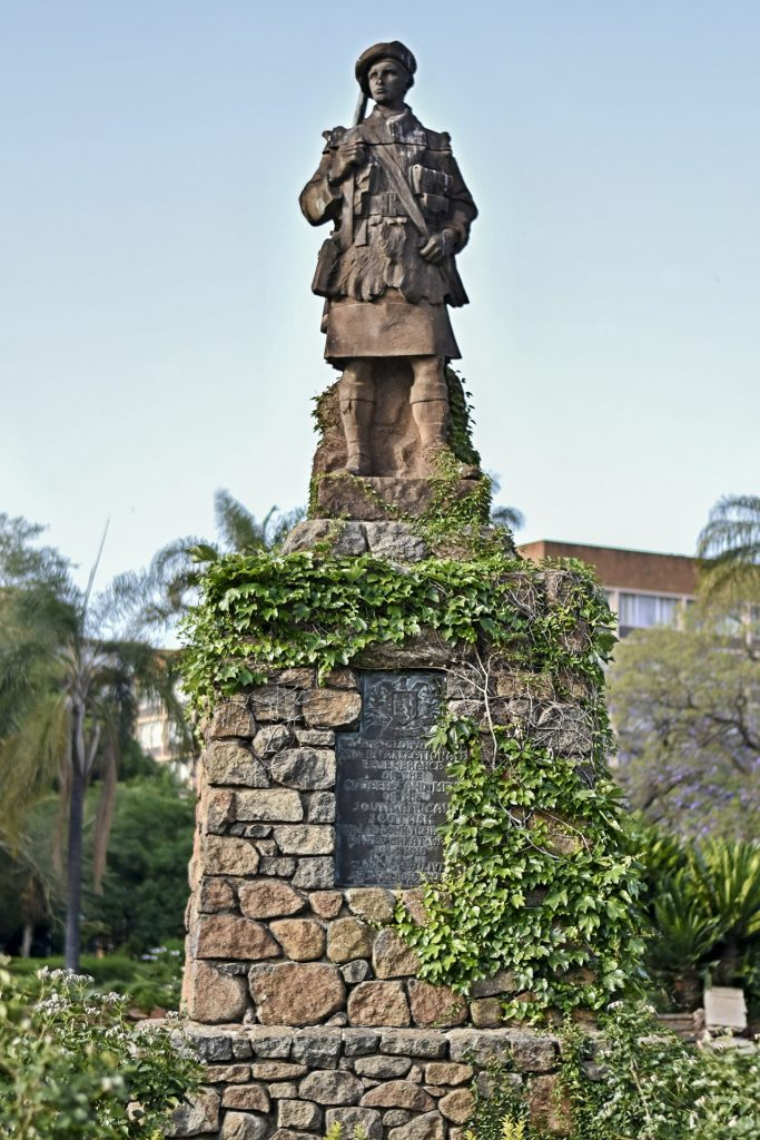 Scottish WW1 Memorial in Burgers Park, Pretoria