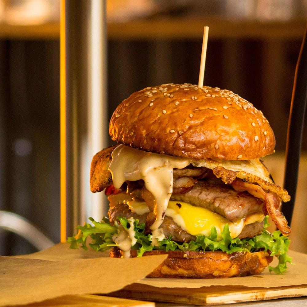 Chicken beef steak cheese hamburger